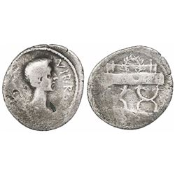 Roman Empire, AR denarius, Octavian, as Triumvirs and Imperators (43-31 BC), struck spring-summer 42
