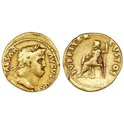Roman Empire, AV aureus, Nero, 54-68 AD, Rome mint. Struck circa 64-65 AD.