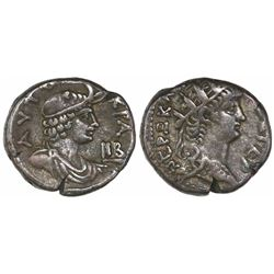Roman Empire, Egypt, Alexandria, BI tetradrachm, Nero, 54-68 AD, dated year 12 (65-66 AD).