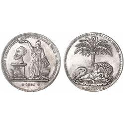 Potosi, Bolivia, large silver proclamation medal, Belzu, 1850.