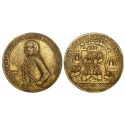 Great Britain, copper-alloy medal, Admiral Vernon, 1739, Porto Bello, three-quarters portrait, legen