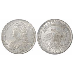 USA (Philadelphia mint), half dollar Capped Bust, 1826, Overton 120a, encapsulated PCGS AU 55.