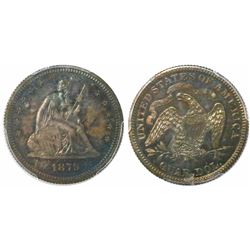USA (Philadelphia mint), proof quarter dollar Seated Liberty, 1879, encapsulated PCGS PR 64.