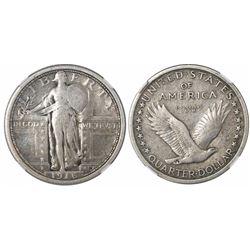 USA (Philadelphia mint), quarter dollar Standing Liberty, 1916, encapsulated NGC VG 10.
