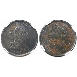 USA (Philadelphia mint), half cent Draped Bust, 1806, small 6, no stems, C-1, encapsulated NGC AU 55