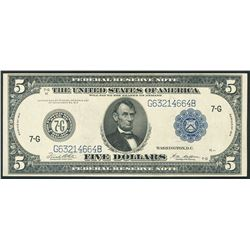 USA (Washington, D.C.), $5, series 1914.