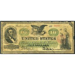 USA (Washington, D.C.), US Treasury, $10, 10-3-1862.