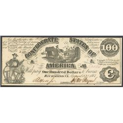 Richmond, CSA, $100, 2-9-1861.