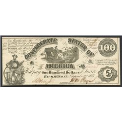 Richmond, CSA, $100 2-9-1861.