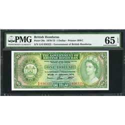 Belize, British Honduras, Government of British Honduras, 1 dollar, 1-1-1973, certified PMG Gem UNC