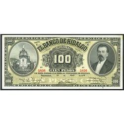 Pachuca, Mexico, Banco de Hidalgo, 100 pesos, 21-4-1914.