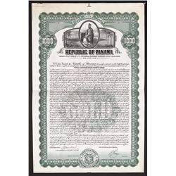 Panama, specimen $1,000 35-year 6-1/2-percent external secured gold bond, 1-6-1926.