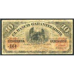 Lima, Peru, Banco Garantizador, 40 centavos, 1-9-1876.