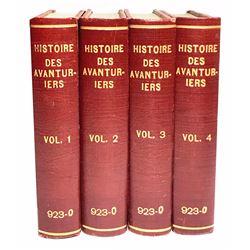 Histoire des Avanturiers / Histoire des Pirates Anglois, four volumes (1744), by Alexandre-Olivier O