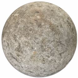 Large stone cannonball from a Spanish Armada wreck (1588).