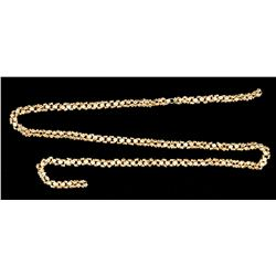 "Gold chain, 30.24 grams, 16 inches long, heavy ""olive blossom"" design, from the 1715 Fleet."
