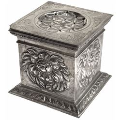 Ornate silver shaker (pounce box) from the 1715 Fleet.