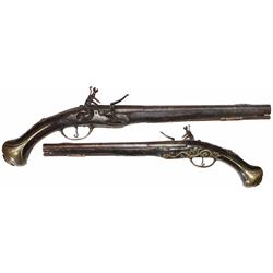 Early European horseman's pistol, 1700s.