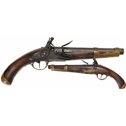 French or Belgian naval boarding pistol, 1770-1790.