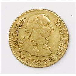 Madrid, Spain, bust 1/2 escudo, Charles III, 1783JD.