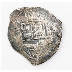Seville, Spain, cob 4 reales, (1)615, assayer not visible.