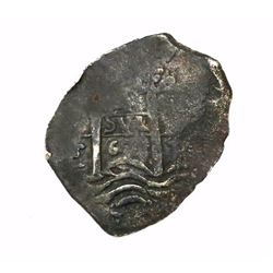 Potosi, Bolivia, cob 4 reales, 1667E.