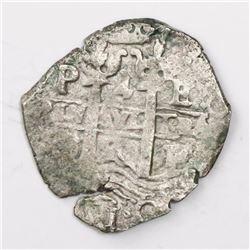 Potosi, Bolivia, cob 4 reales, 166(?)E.