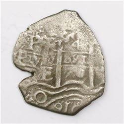 Potosi, Bolivia, cob 4 reales, 1670E.