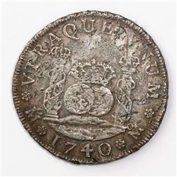 Mexico City, Mexico, pillar 4 reales, Philip V, 1740MF.