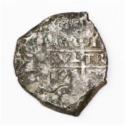 Potosi, Bolivia, cob 4 reales, 1727Y, (Louis I).