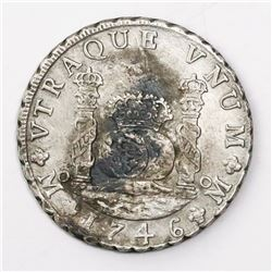 Mexico City, Mexico, pillar 8 reales, Philip V, 1746MF.