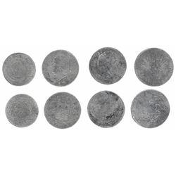 Lot of four miscellaneous coins: France (Paris mint), 5 francs, Louis XVIII, 1824-A; France (Lille m