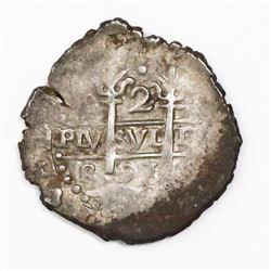 Lima, Peru, cob 2 reales, 1691R.
