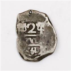 Lima, Peru, cob 2 reales, 1751/0( R), very rare.
