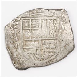 Potosi, Bolivia, cob 8 reales, (1)619T, quadrants of cross transposed.