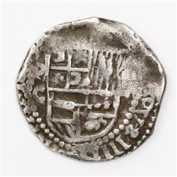 "Potosi, Bolivia, cob 2 reales, Philip III, assayer C, rare, ex-""Americas."""