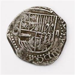 """Potosi, Bolivia, cob 2 reales, Philip III, assayer Q/C, rare, ex-""""Americas."""""""