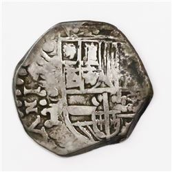 Potosi, Bolivia, cob 2 reales, (16)ZIII (1623), assayer T/P, very rare.