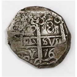 Potosi, Bolivia, cob 8 reales, 1769V-Y.