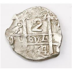 Potosi, Bolivia, cob 2 reales, 1764V-(Y).