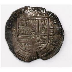 Seville, Spain, cob 4 reales, 1615(?)V.