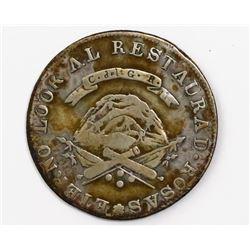La Rioja, Argentina, 4 reales, 1849RB.