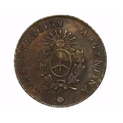 La Rioja, Argentina, 2 reales, 1860B.
