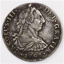 Potosi, Bolivia, bust 8 reales, Charles III, 1783PR.