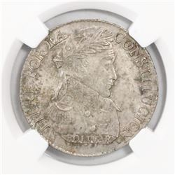 Potosi, Bolivia, 4 soles, 1830JL, encapsulated NGC MS 63.