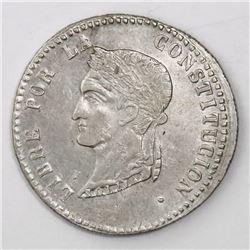 La Paz, Bolivia, 4 soles, 1854F.