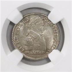 Potosi, Bolivia, 1 sol, 1830JL, encapsulated NGC MS 64.