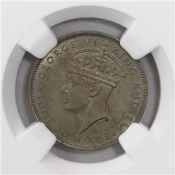 Lot of three British Honduras copper-nickel 5 cents, George VI, in NGC slabs, as follows: 1939 MS 63