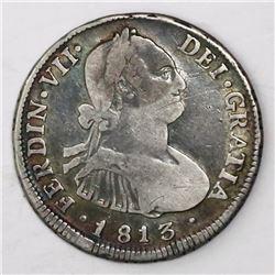 Santiago, Chile, bust 4 reales, Ferdinand VII, 1813JR.