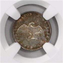 Santiago, Chile, 1/2 decimo, 1857, encapsulated NGC MS 63.